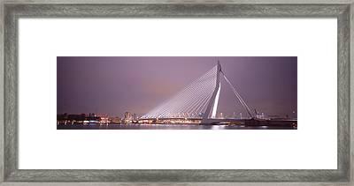 Erasmus Bridge, Rotterdam, Holland Framed Print