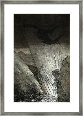 Erda Bids Thee Beware, Illustration Framed Print by Arthur Rackham