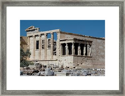 Erechtheion With The Porch Of Maidens Framed Print