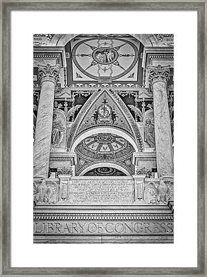 Erected Under The Act Of Congress Bw Framed Print by Susan Candelario