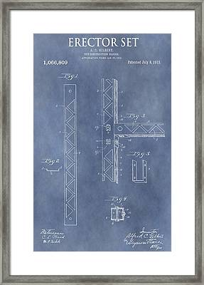 Erector Set Patent Framed Print by Dan Sproul