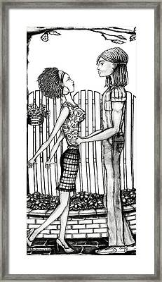 Eric And Lynnette Framed Print by Karen-Lee