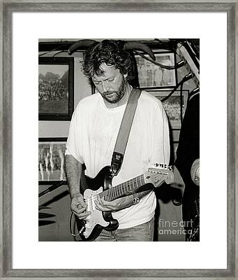 Eric Clapton 1988 Framed Print by Chuck Spang