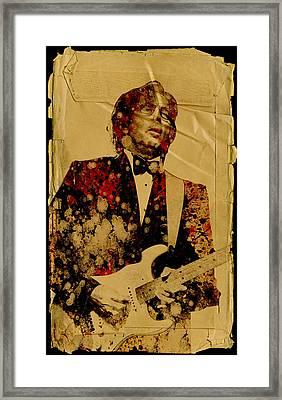 Eric Clapton 2 Framed Print by Bekim Art