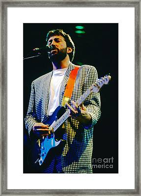 Eric Clapton A1 Framed Print by David Plastik