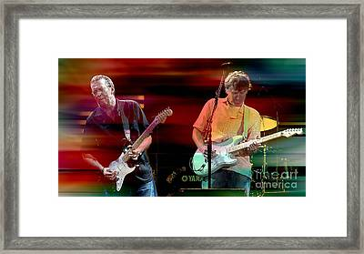 Eric Clapton And Steve Winwood Framed Print by Marvin Blaine