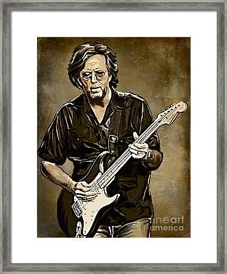 Eric Clapton Framed Print by Andrzej Szczerski