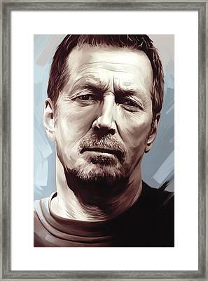 Eric Clapton Artwork Framed Print by Sheraz A