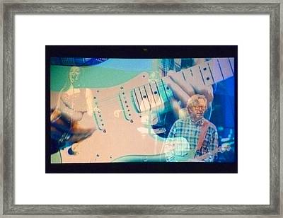 Eric Clapton Framed Print by Gwen Rose