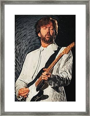 Eric Clapton Framed Print by Taylan Apukovska