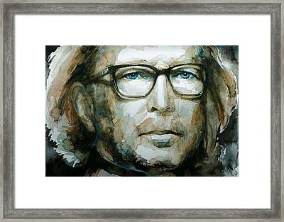 Eric Clapton Watercolor Framed Print by Laur Iduc