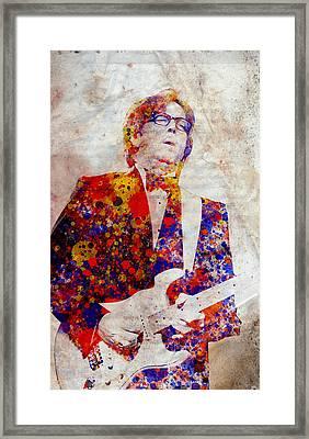 Eric Claptond Framed Print by Bekim Art