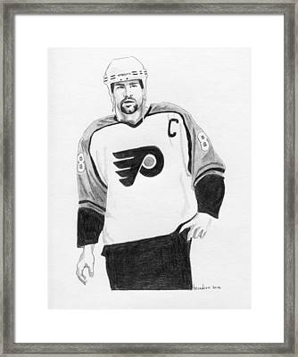 Eric Lindros Framed Print by Brian Condron
