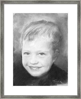 Eric Framed Print by Sue Tesin