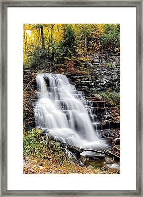 Framed Print featuring the photograph Erie Falls by David Stine