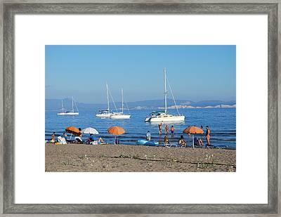 Erikousa Beach One Framed Print