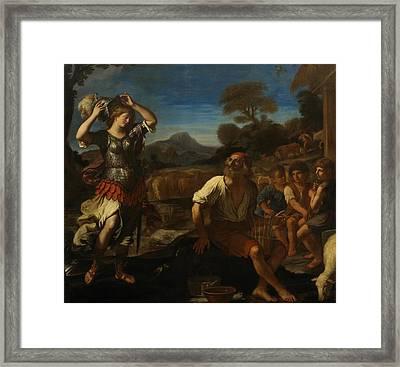Erminia And The Shepherds Framed Print by Giovanni Francesco Barbieri