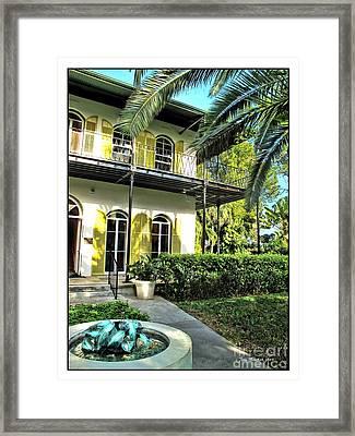Ernest Hemingway House Framed Print by Joan  Minchak