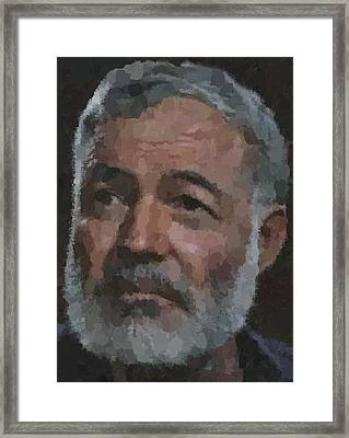 Ernest Hemingway Portrait Framed Print