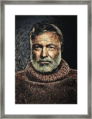 Ernest Hemingway Framed Print by Taylan Apukovska