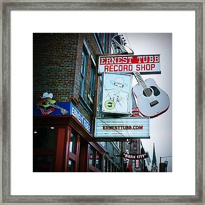 Ernest Tubb Record Shop Framed Print by Linda Unger