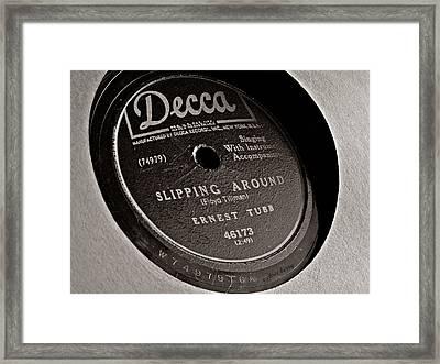 Ernest Tubb Vinyl Record Framed Print