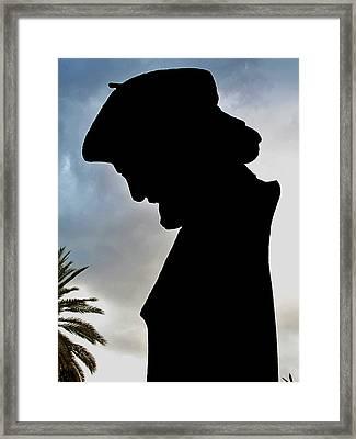 Ernesto Cardenal In The Literary Garden Framed Print