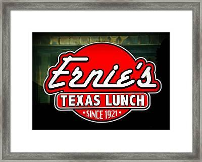 Ernie's Texas Lunch Framed Print