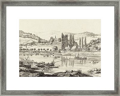 Ernst Fries German, 1801 - 1833, The Convent Of Neuberg Framed Print by Quint Lox