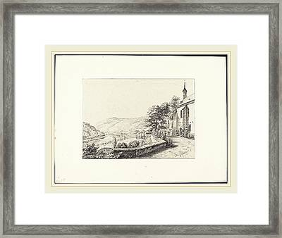 Ernst Fries German, 1801-1833, The Convent Terrace Framed Print by Litz Collection