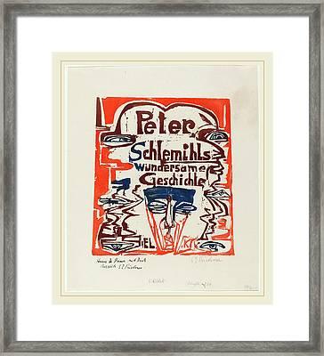 Ernst Ludwig Kirchner, Peter Schlemihls Wundersame Framed Print by Litz Collection