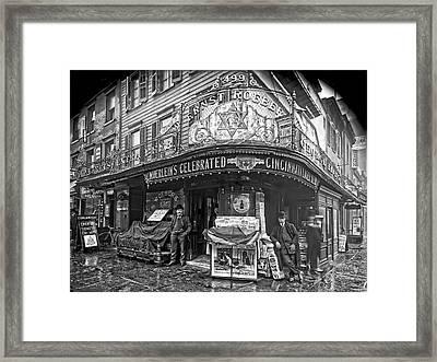 Ernst Roebers Saloon - Manhattan - 1908 Framed Print by Daniel Hagerman