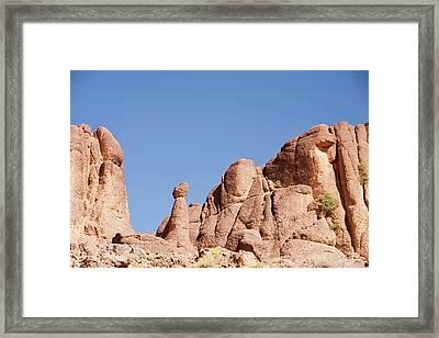 Eroded Granite Boulders Framed Print by Ashley Cooper