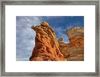 Eroded Sandstone Vermillion Cliffs  Framed Print by Yva Momatiuk John Eastcott