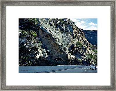 Framed Print featuring the photograph Eroding Hillside And Tunnel by Susan Wiedmann