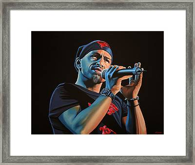 Eros Ramazzotti Painting Framed Print by Paul Meijering