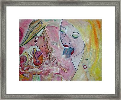 Eros Tic Framed Print by Michael DESFORM