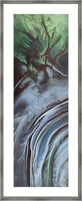 Erosion Framed Print by Carlynne Hershberger