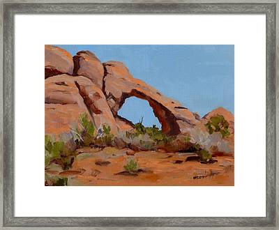 Framed Print featuring the painting Erosion by Pattie Wall