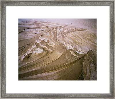 Erosion Reveals Layers Of Sand Framed Print by Robert L. Potts