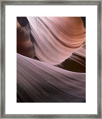 Erosion Trails Framed Print