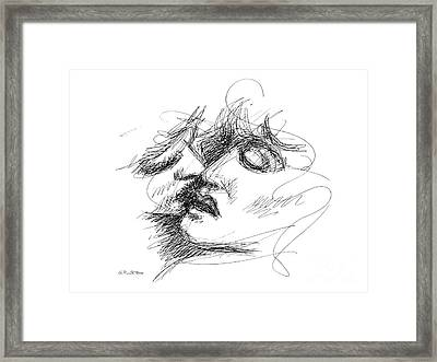 Erotic Art Drawings 15f Framed Print