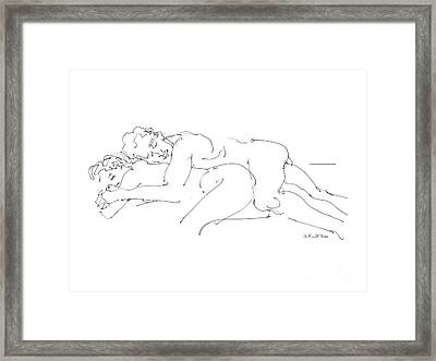 Erotic Art Drawings 2 Framed Print