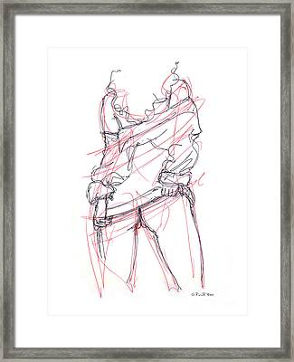Erotic Art Drawings 6 Framed Print