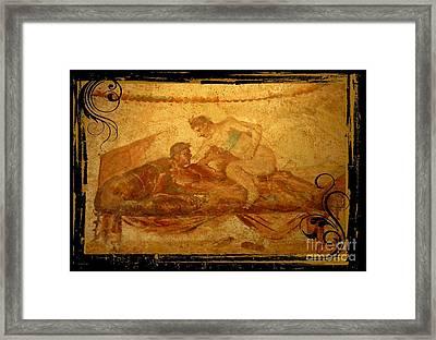 Erotic Art Of Pompeii Framed Print by John Malone Halifax Photographer
