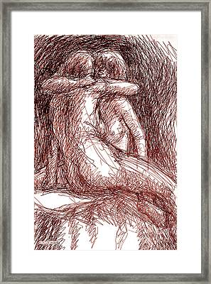 Erotic Drawings 19-2 Framed Print
