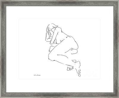 Erotic-female-drawings-21 Framed Print