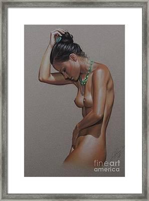 Erotik Akt Nelly Framed Print
