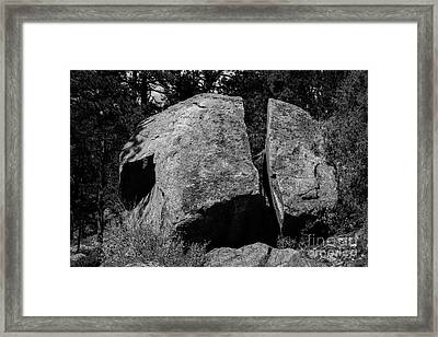 Erratic Framed Print