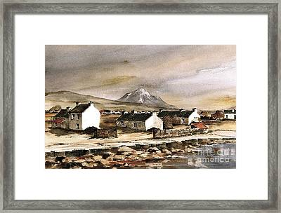 Errigal From Gola Island Donegal Framed Print